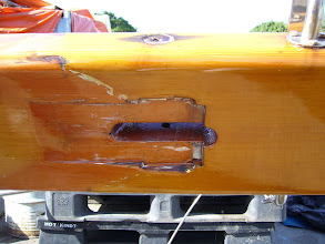 Photo: Closeup of the forestay slot