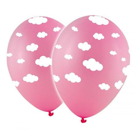 Ballonger - Moln, rosa