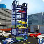 Smart Car Parking Crane Driver 3D Sim: Multi Level