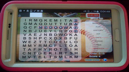 Baseball Word Search FREE