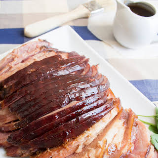 Slow Cooker Brown Sugar Spiral Ham.