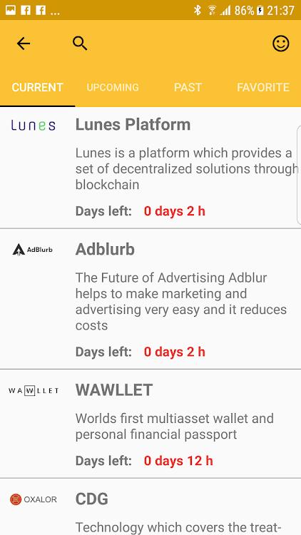 ICO Watchlist - ICO token Calendar, monitor ICOs! – (Android