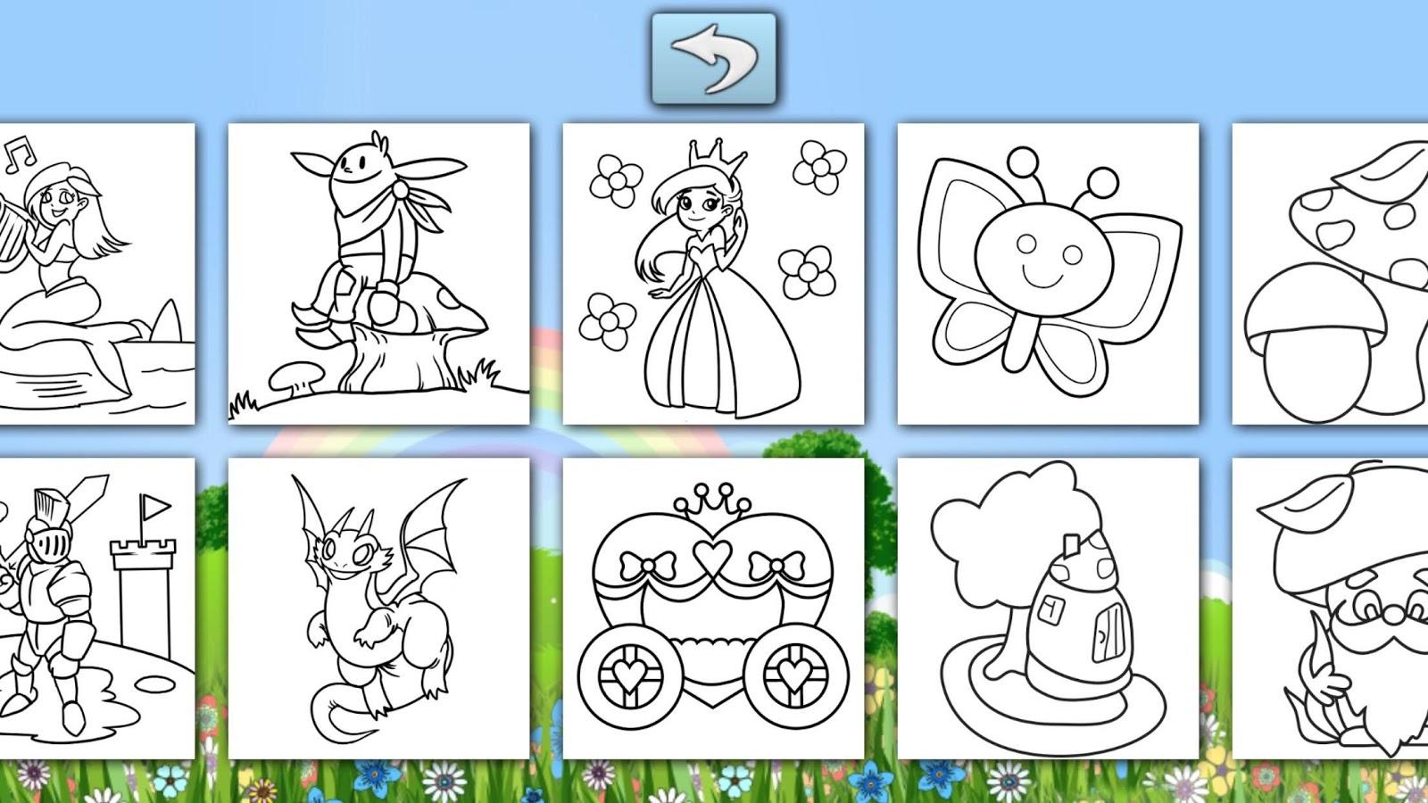 sparkling color book for kids screenshot - Color Book