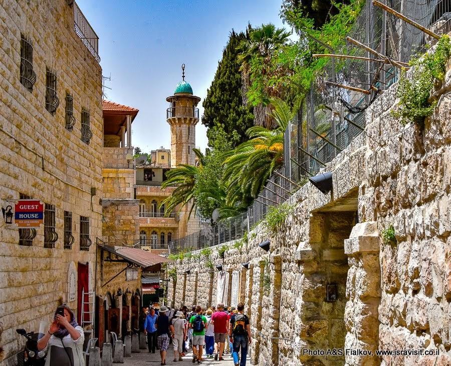 Улица Виа Долороза.  Иерусалим. Старый город.