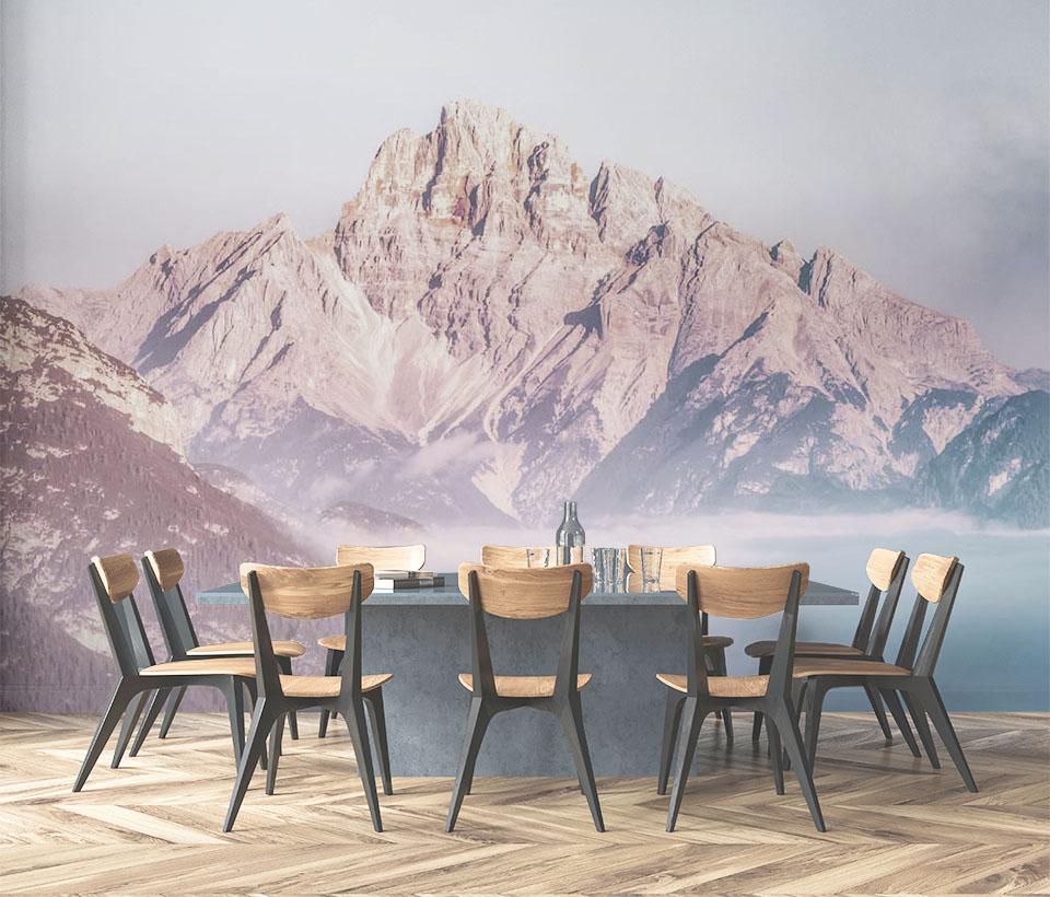 Фотообои горы для столовой