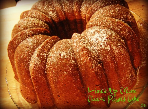 Limed-up Cream Cheese Pound Cake - Dee Dee's Recipe