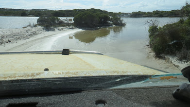 Photo: Xing Poison Creek to get to the beach