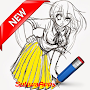 Best Learning to Draw Anime 3D APK icon