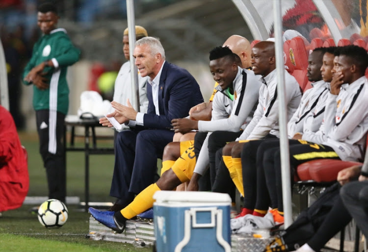 Ernst Middendorp during the CAF Confederation Cup match between Kaizer Chiefs and Elgeco Plus FC at Moses Mabhida Stadium on December 15, 2018 in Durban, South Africa.