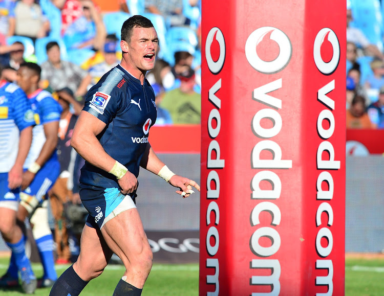 Jesse Kriel of the Bulls reacts during the Super Rugby match against the Stormers at the Loftus Stadium in Pretoria on 15 July 2017.