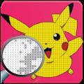 Colorare Pokemon Pixel Art per numero Pikachu