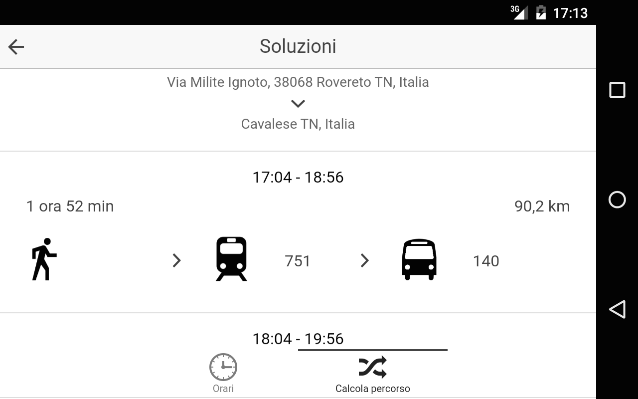 Trentino in Bus- screenshot