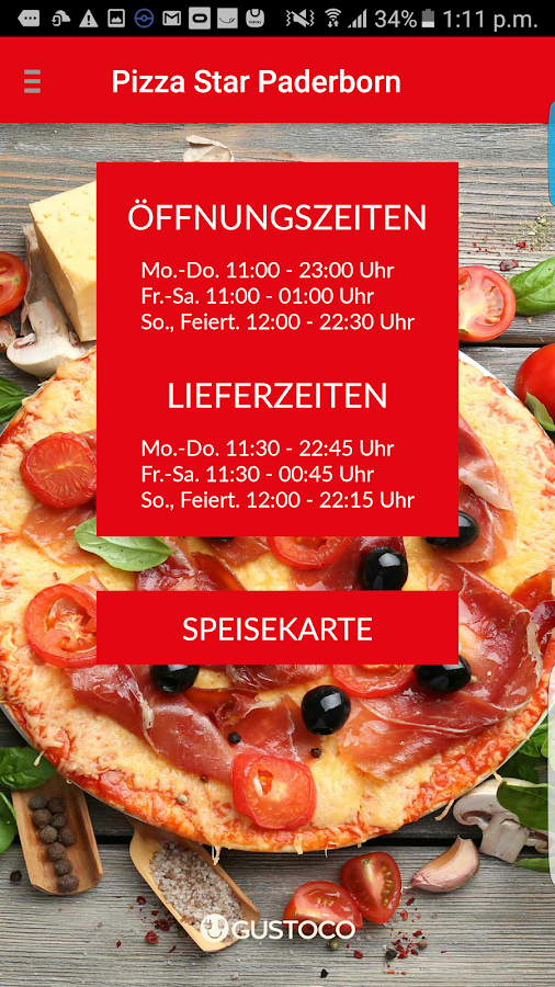 Pizza Star Paderborn – Screenshot