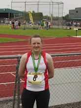 Photo: Ciara Mocker, Presentation Convent, Thurles, National Bronze medal winner in the Junior Girls Discus.