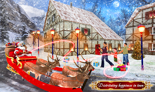 Santa Claus Christmas Gift Delivery: Sleigh Riding - náhled