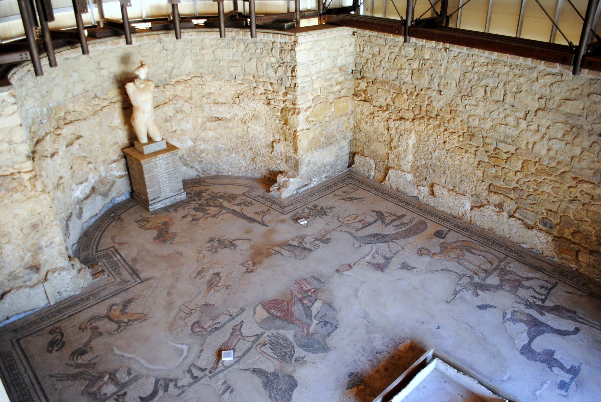 My Photos: Italy -- Mosaics -- Sicily -- Piazza Armerina -- The Orpheus Mosaic