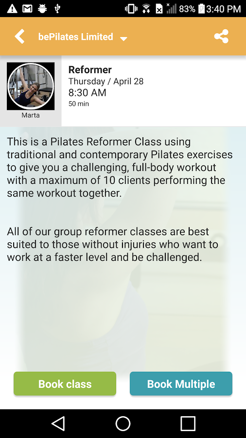 bePilates Limited- screenshot