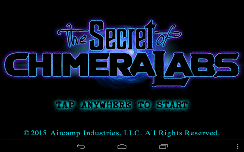 The Secret of Chimera Labs- screenshot thumbnail