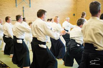 Photo: Foto van de stage verzorgd door Fukakusa-sensei op 15-05-14, in de dojo van Aikidoschool Amstelveen, te Amstelveen.