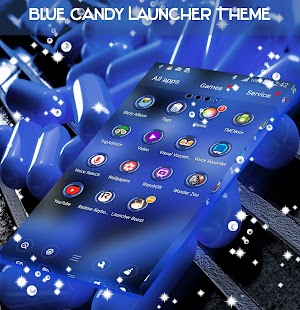 Blue Candy Launcher Theme - náhled