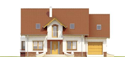 Dom Dla Ciebie 1 w3 z garażem 1-st. A - Elewacja przednia