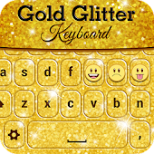 Gold Glitter Keyboard
