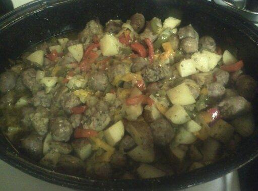 Sausage & Peppers & Onions & Potatoes Recipe