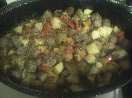 Sausage & Peppers & Onions & Potatoes