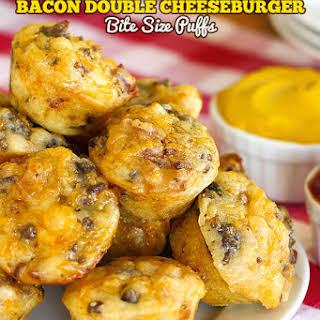 Bacon Double Cheeseburger Bite Size Puffs.