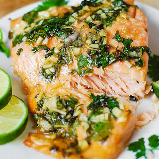 Cilantro-Lime Honey Garlic Salmon (Baked in Foil) Recipe