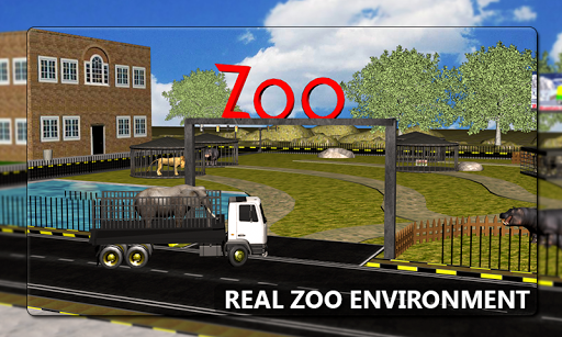 Wild Animal Transport Truck 3D