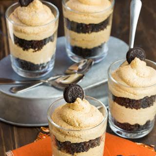 No Bake Oreo and Pumpkin Cheesecake Parfaits