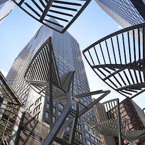 Curvaceous Metals by Jess Trudeau - Buildings & Architecture Architectural Detail ( pwccurves, architexture,  )