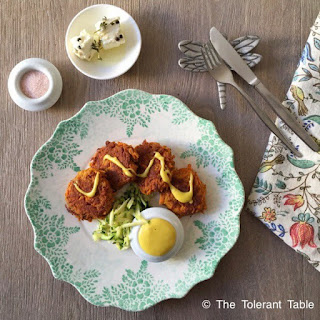 Ayurvedic Spiced Carrot Fritters with Mayonnaise Recipe