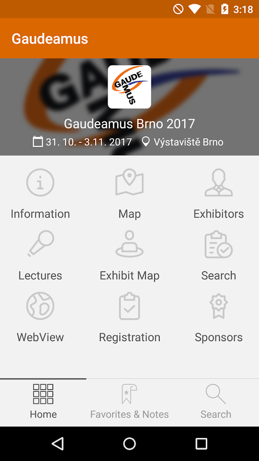 Gaudeamus Guide- screenshot