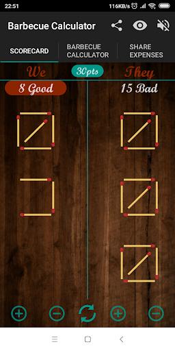 BBQ CALCULATOR, SCOREKEEPER & SHARE EXPENSE 2.1.5 screenshots 1