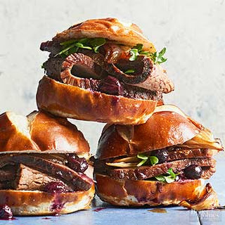 Blueberry-Braised Brisket Sandwiches