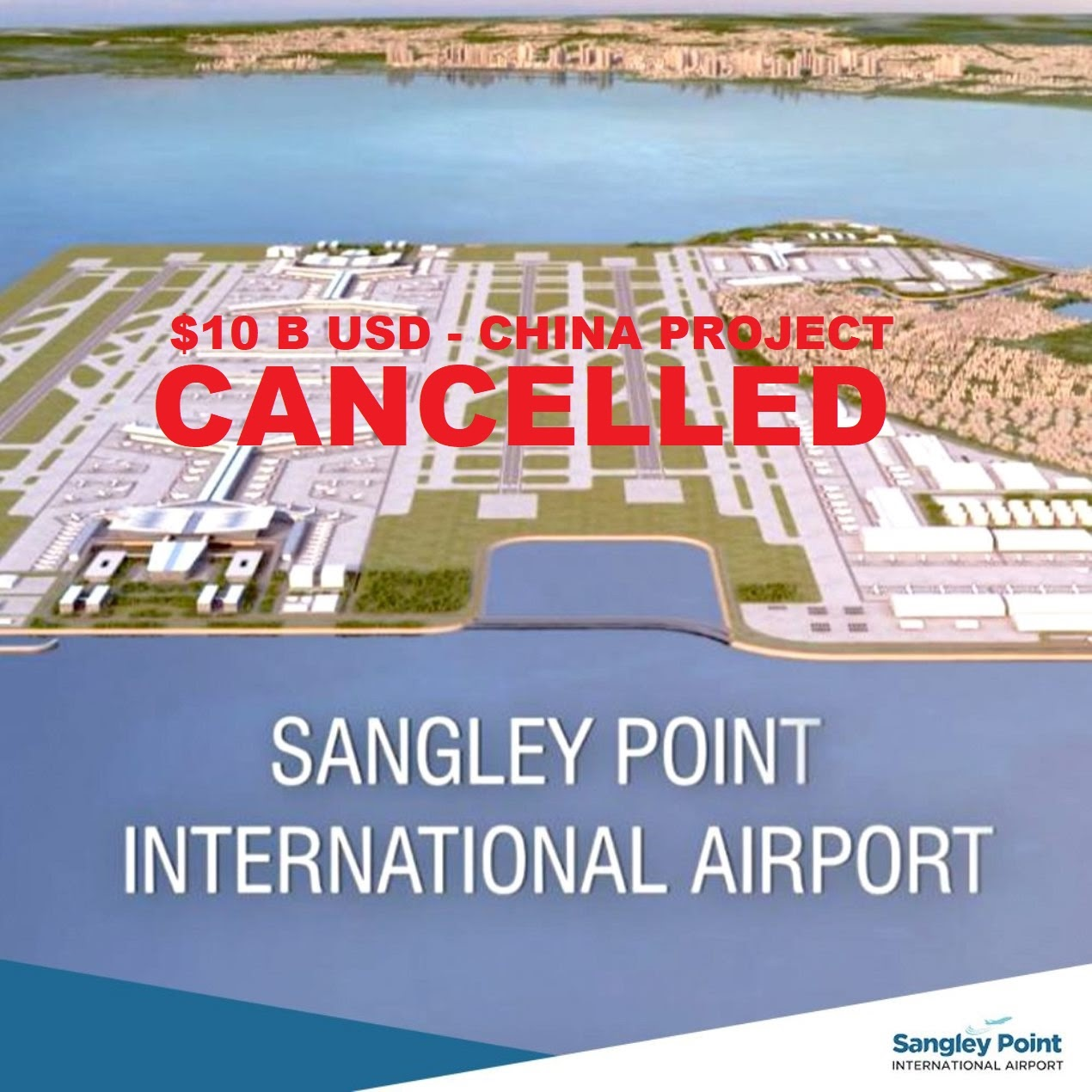 Cavite Governor Cancelled $10 Billion USD China's Airport Project Sangley Point International Airport