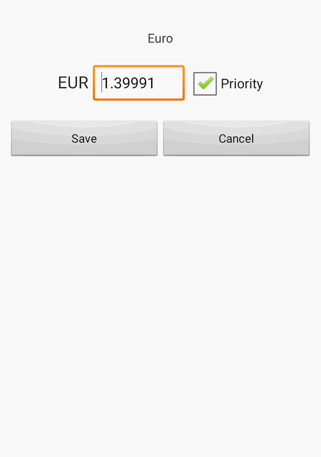 Exchange rate. All currencies- screenshot