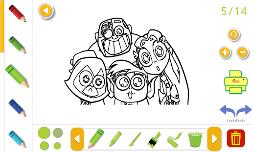 coloring book for teen titans hero go 2018 - náhled