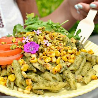 Summer Pesto Pasta with Charred Corn and Arugula