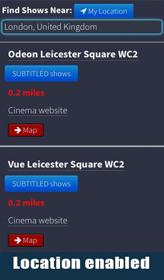 Your Local Cinema- screenshot
