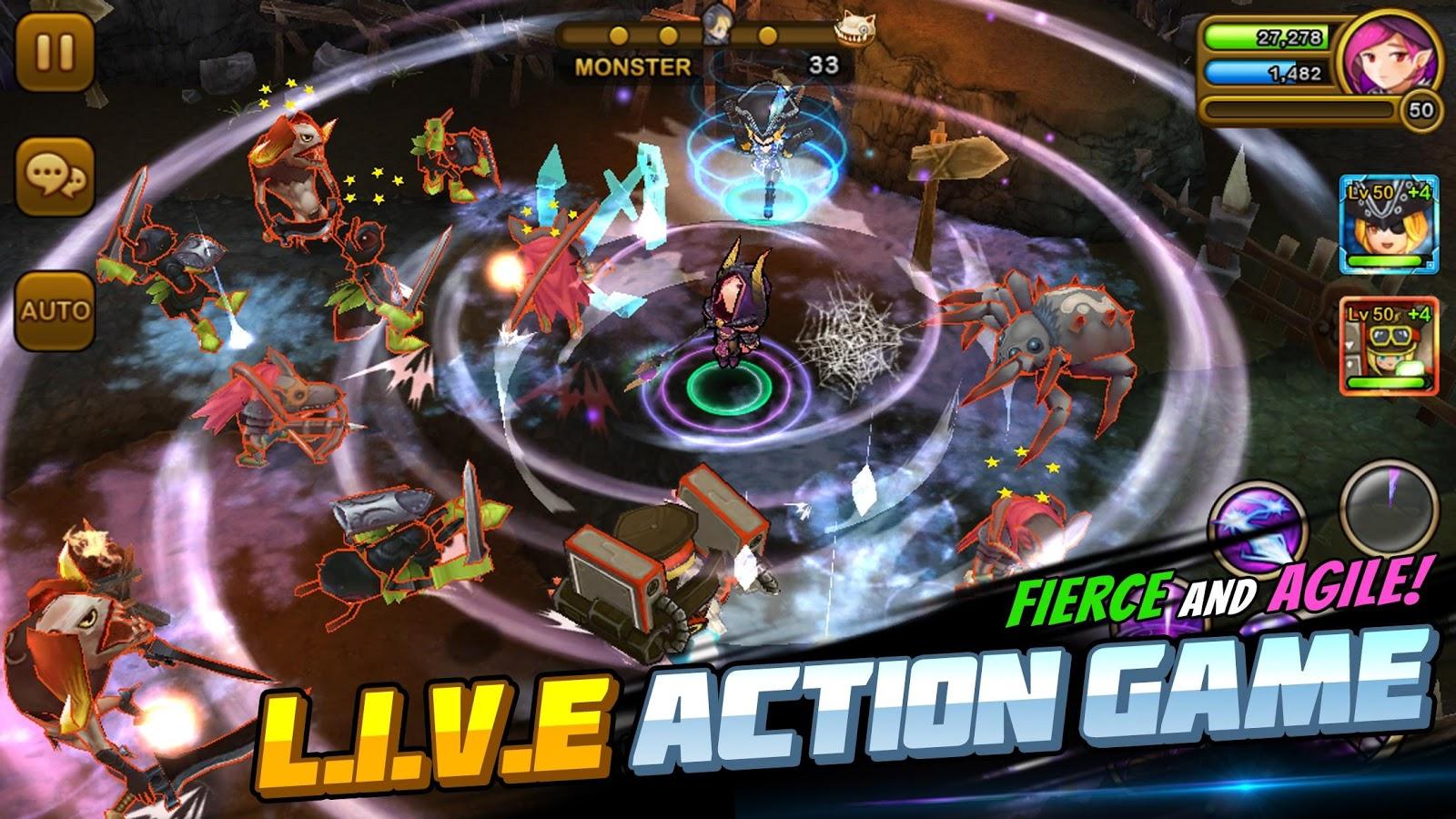 Screenshots of Guardian Hunter: SuperBrawlRPG for iPhone
