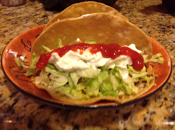 Add sour cream and salsa or topping of your choice!  Then just enjoy!