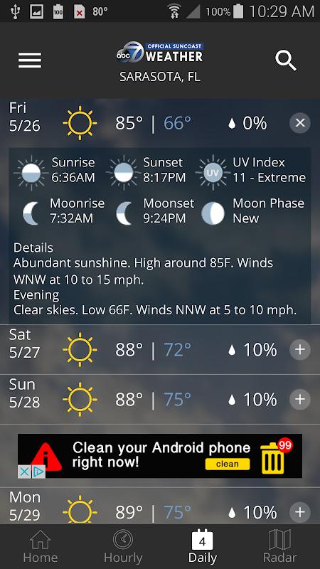 ABC7 WWSB First Alert Weather screenshots