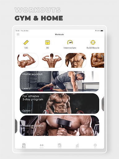 Fitness: Workout for Gym|Home  screenshots 9