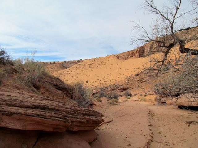 Sand slide in Spur Fork
