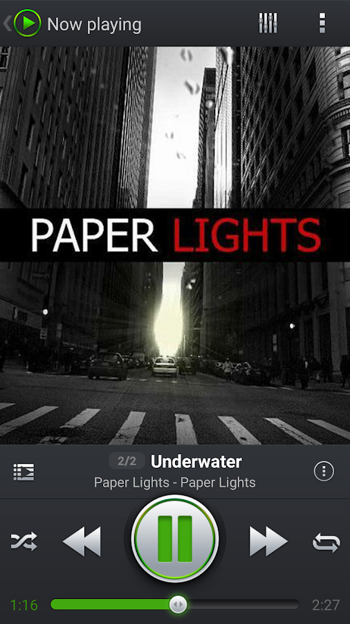 Screenshots of PlayerPro Music Player Trial for iPhone