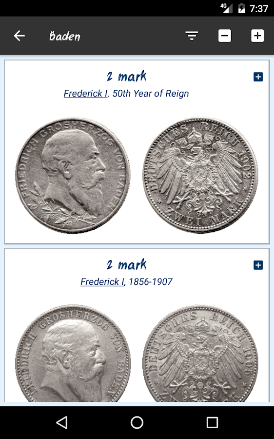 German Empire's silver coins- screenshot