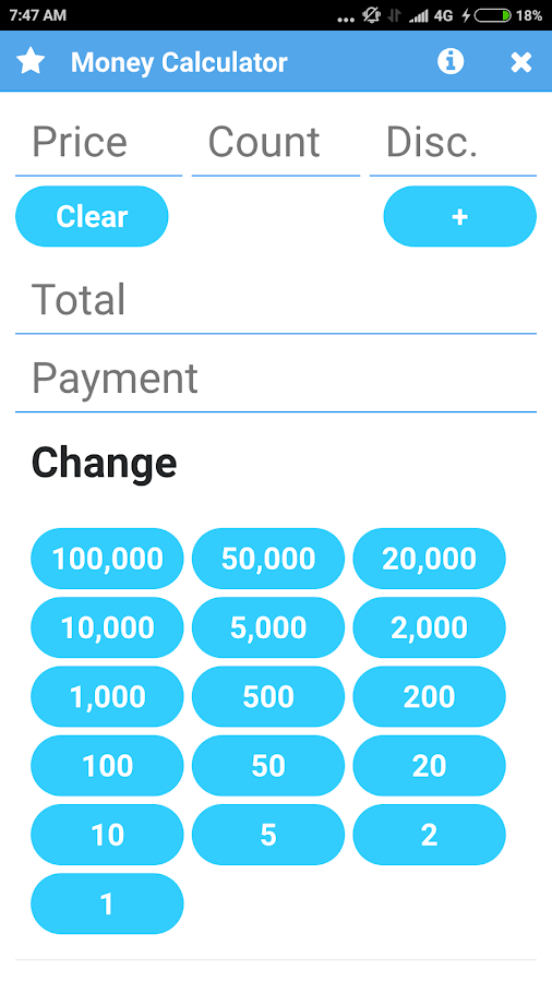 Money Calculator: Shopping and Cashier Helper- screenshot
